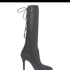 New BCGB  Black Lace up knee high boots never worn